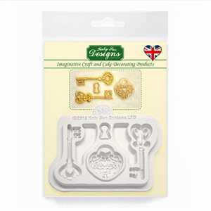 Decorative Keys and Lockets Silicone Mold By Katy Sue