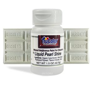 Pearl Liquid Shine Natural Food Color By TruColor 1.5 Ounce