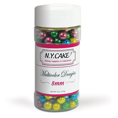 Multicolor Dragees 8 mm Size