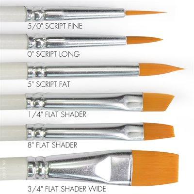 Round & Flat Brush Set of 6