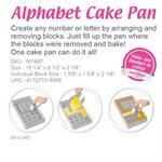 Alphabet and Number Cake Pan