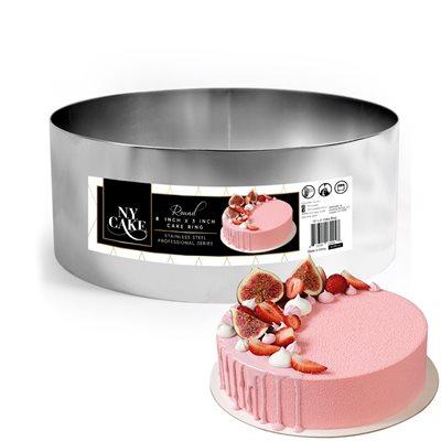 NY Cake Round Cake Ring 8 x 3