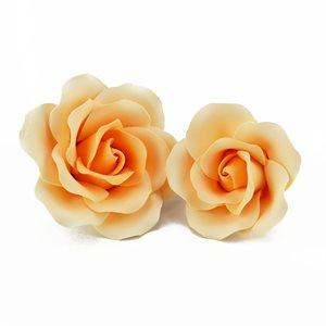 Grand Rose Peach Sugar Flowers