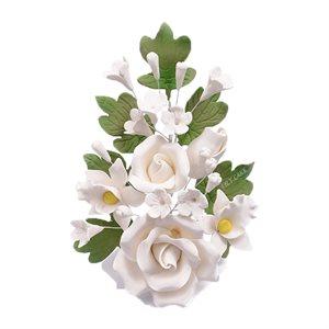 White Rose Spray Sugar Flowers