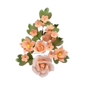 Peach Rose Spray Sugar Flowers