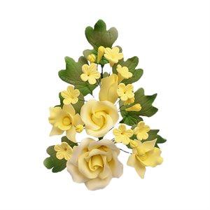Yellow Rose Spray Sugar Flowers