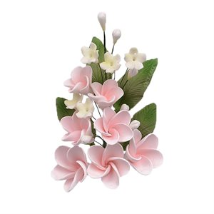 Pink Plumeria Spray Sugar Flowers