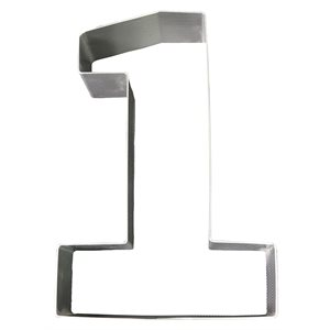 "Stainless Steel Number Mold- ""1"" 8 1 / 2"" x 5 1 / 2"" x 2"" Deep"