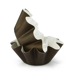 Brioche Paper Baking Mold 3 9 / 16 Inch 50 Pcs