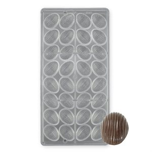 Ridged Almond Polycarbonate Chocolate Mold