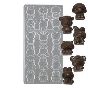 3D Kitty Cat Polycarbonate Chocolate Mold
