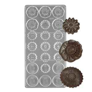 Flowers Polycarbonate Chocolate Mold