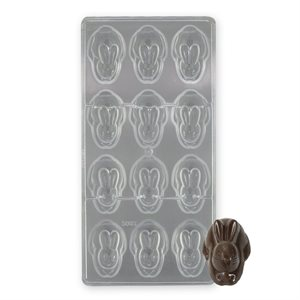 3D Bunny Polycarbonate Chocolate Mold