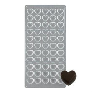 Mini Hearts Polycarbonate Chocolate Mold