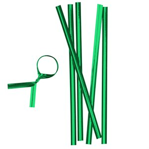 Green Metallic Twist Ties Pack of 100 4 Inch Long