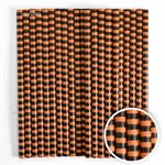 Orange & Black Stripe Cake Pop Sticks- 6 Inch -Pack of 25