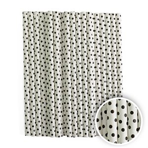 Black Dots Cake Pop Sticks- 6 Inch -Pack of 25