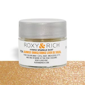 Sunrise Orange Edible Hybrid Sparkle Dust By Roxy Rich 2.5 gram