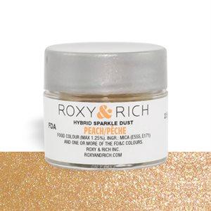 Peach Edible Hybrid Sparkle Dust By Roxy Rich 2.5 gram