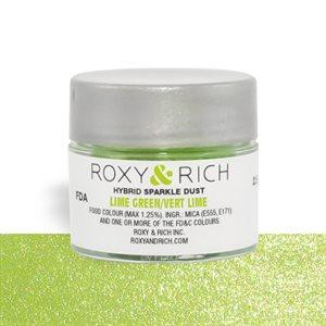 Lime Green Edible Hybrid Sparkle Dust By Roxy Rich 2.5 gram