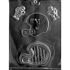 Football Helmet Pour Box Chocolate Candy Mold