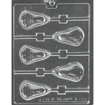 Lacrosse Large Lollipop Chocolate Candy Mold