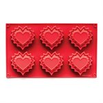 Fluted Heart Silicone Baking Mold