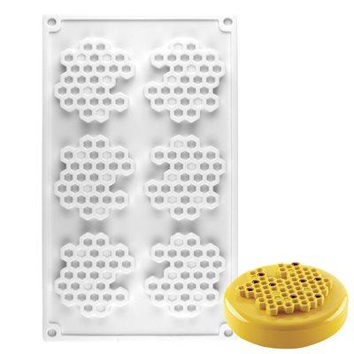 Honeycomb Silicone Baking Mold 6 Cavity