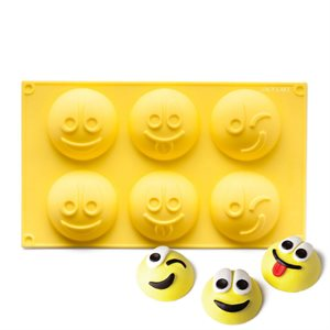 Happy Faces Emoji Silicone Novelty Bakeware
