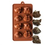 Cars, Boats, Trains and Planes Silicone Chocolate Mold
