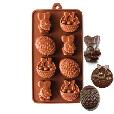 Easter Bunny, Egg and Basket Silicone Chocolate Mold
