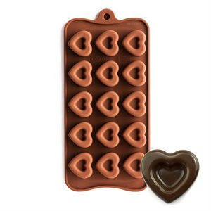 Dimpled Heart Silicone Chocolate Mold