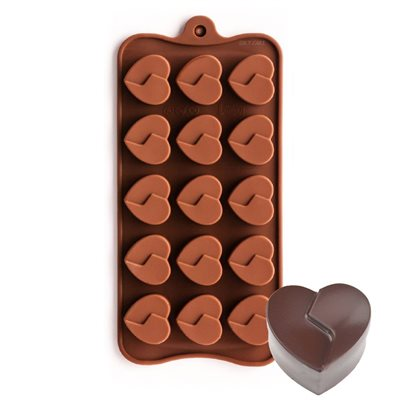 Divided Heart Silicone Chocolate Mold
