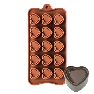 Double Heart Silicone Chocolate Mold