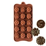 Rose and Daisy Silicone Chocolate Mold