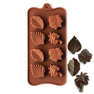 Palm Tree and Leaves Silicone Chocolate Mold