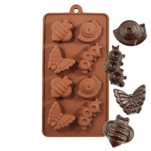 Snail, Caterpillar, Bee and Butterfly Silicone Chocolate Mold
