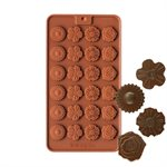 Flower Medallions Silicone Chocolate Mold