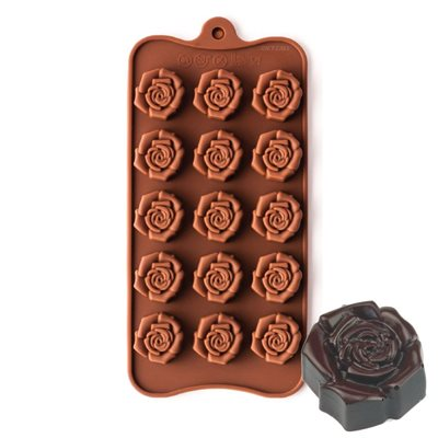 Mini Open Rose Silicone Chocolate Mold