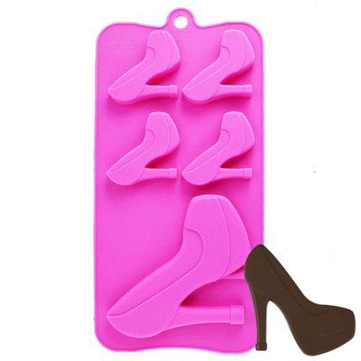 High Heel Shoe Silicone Chocolate Mold Pink