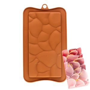 Soft Cracked Bar Silicone Chocolate Mold