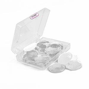 Edible Sugar Diamonds Clear Medium D3 16 Pieces