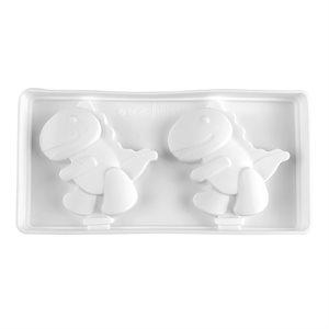 Silicone Mold for Ice Cream Pops Dinosaur 2 Cavity