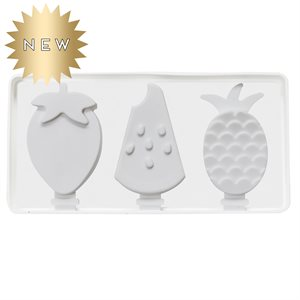 Silicone Mold for Ice Cream Pops Fruit Shape 3 Cavity