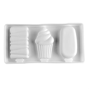 Silicone Mold for Ice Cream Pops Cakesicle 3 Cavity
