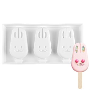 "Silicone Mold for Cakesicles ""Bunny""-3 Cavity"