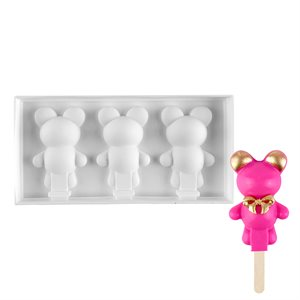 """Silicone Mold for Cakesicles, """"Bear"""" - 3 Cavity"""