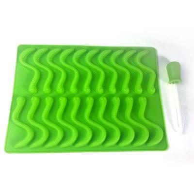 Worm Jellyflex Mold w /  Droper