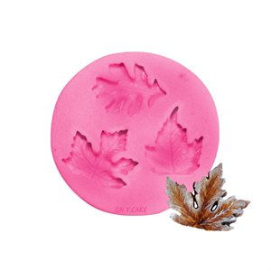 Assorted Leaves Silicone Fondant Mold