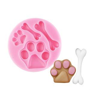 Dog Bones & Paws Silicone Mold